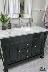 Dark Vanity Bathroom Ideas by Five Ways To Update A Bathroom Centsational