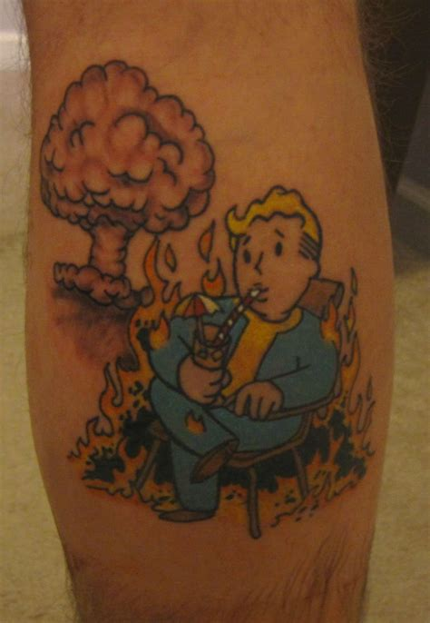 tattoo new vegas fallout tattoo video game tattoos pinterest fallout