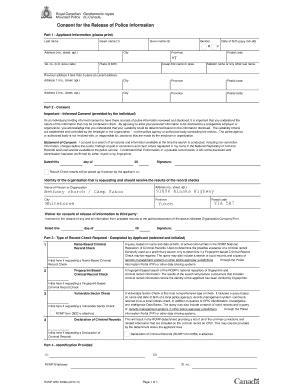 Blank Criminal Record What Does A Rcmp Criminal Record Check Look Like Fill Printable Fillable
