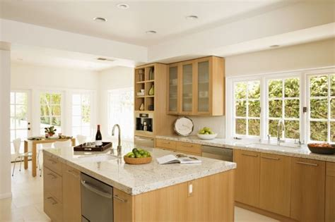 white walls white cabinets light maple modern kitchen cabinets white ish granite
