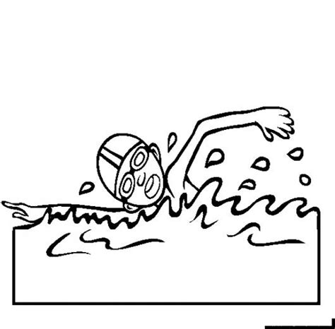 coloring page boy swimming dibujo de nino nadando para pintar y colorear colorear