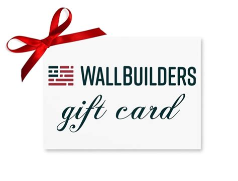 Gift Cards By Mail - wallbuilders llc gift card mail