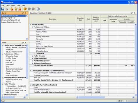 fixed asset depreciation software free download