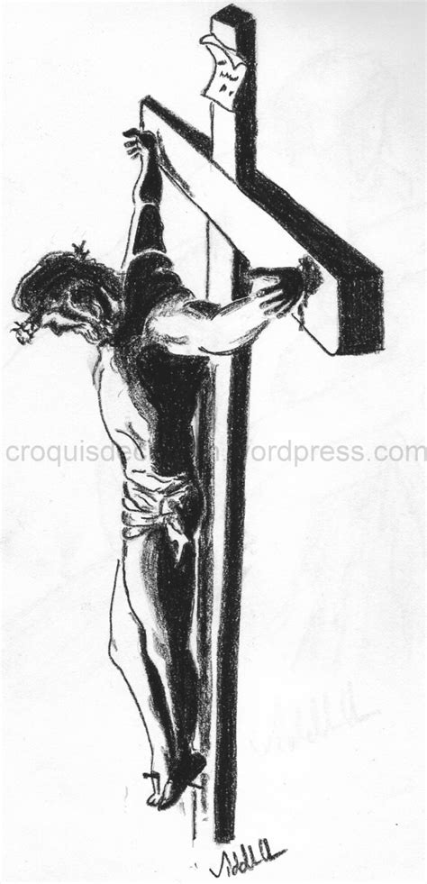 Sketch Of Jesus On The Cross Pencil Sketches Jesus On The Cross Drawings