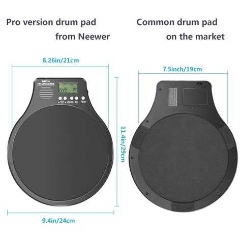 rhythm drum pad neewer 3 in 1 drum practice pad metronome drummer training