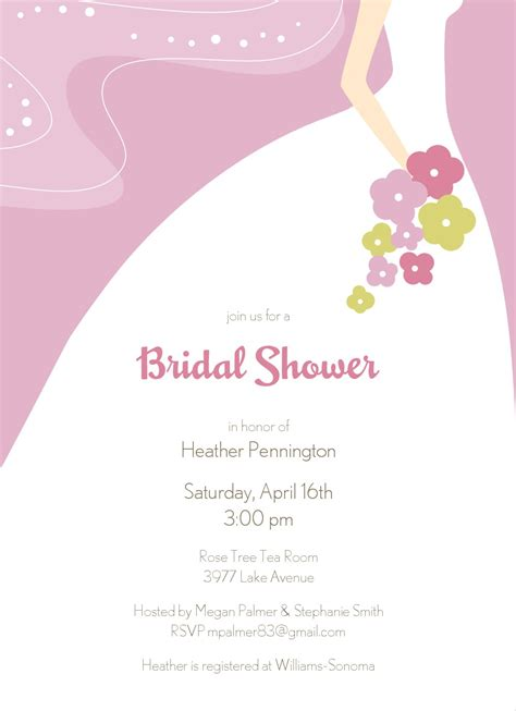 bridal shower card template free chic bridal shower invitation