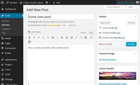 wordpress header layout plugin wordpress unique header plugin doet wat hij moet doen