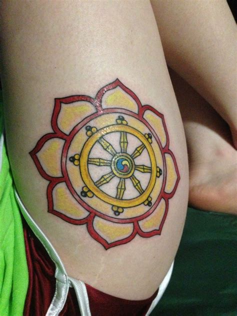 dharma wheel tattoo lotus and dharma wheel future tattoos
