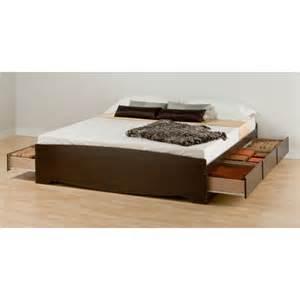 Wood King Platform Bed With Drawers Platform Beds Platform Bedsjapanese Solid Wood Frame