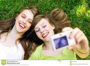 Bedroom Themes For Teenage Girls two friends taking pictures royalty free stock photos
