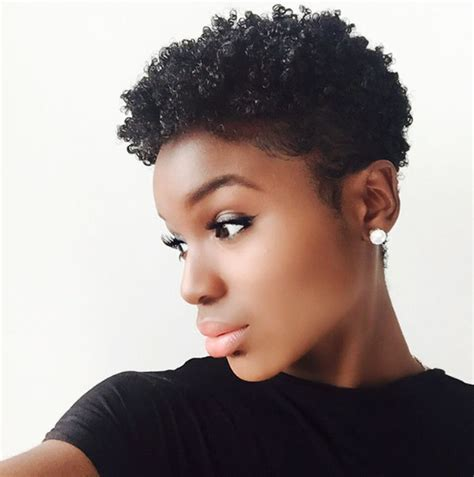 short cut for natural hair instafeature tapered cut on natural hair dennydaily