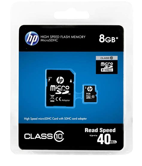 Micro Sd 8gb Untuk Hp hp 8gb micro sd card upto 40mb s class 10 buy 307 snapdeal