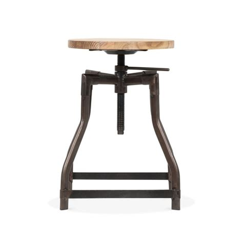 adjustable bar stools uk industrial swivel adjustable stool black 45 65cm bar