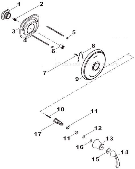 kohler shower parts diagram kohler k t10359 4 parts list and diagram