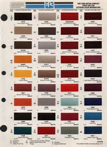 truck colors paint chips 1995 truck fleet
