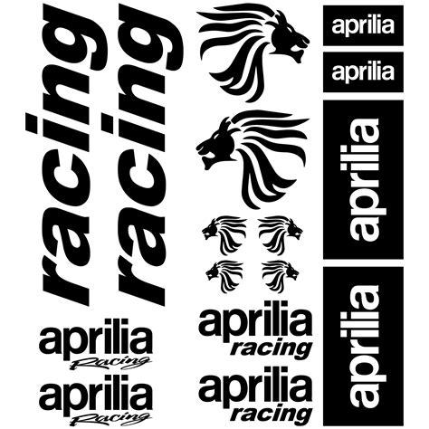 Aprilia Aufkleber by Wandtattoos Folies Aprilia Racing Aufkleber Set