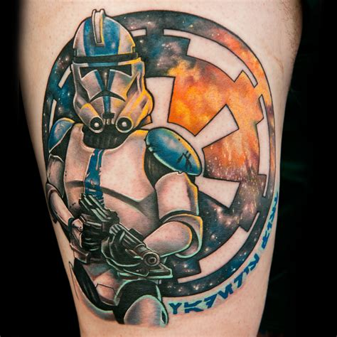 starship troopers tattoo give a artist a clone trooper helmet and what do