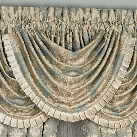 Grey Waterfall Valance Rialto Damask Comforter Bedding By J New York