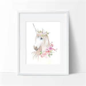 Unicorn Wall Decor by Unicorn Print Wall Animal Decor Office Decor