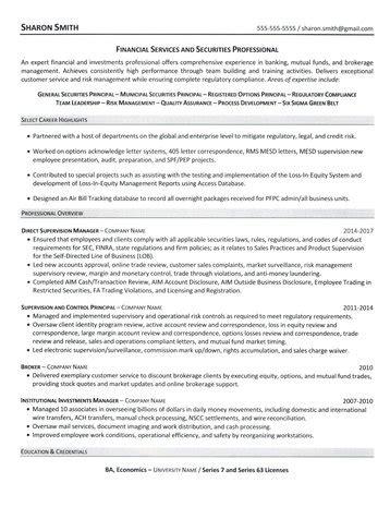 Financial Services Resume Talktomartyb Financial Services Resume Template