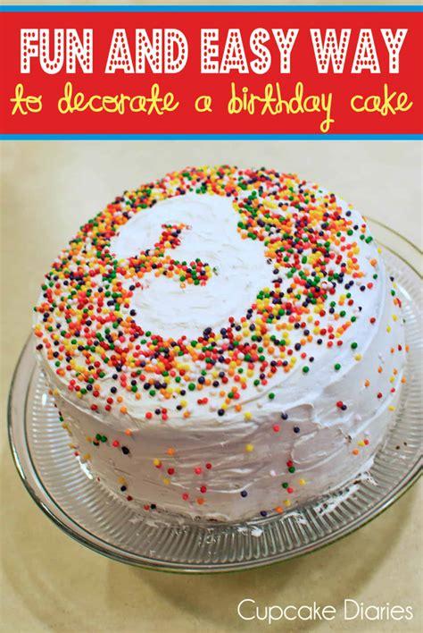 fun  easy   decorate  birthday cake cupcake diaries