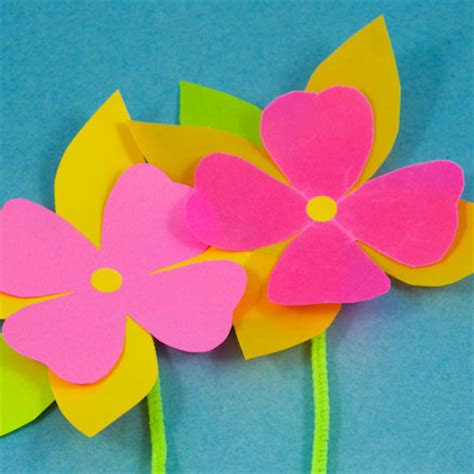 Flower With Papers - how to make waxed paper craft recipes s crafts