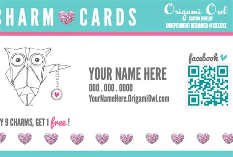 how to make punch cards create an origami owl charm punch card for you fiverr