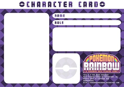 character card template character card template purple checkers by ry spirit on