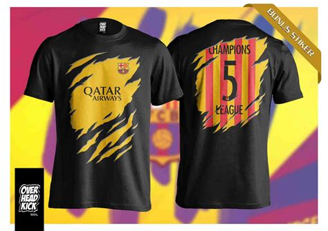 Kaos As Roma 3d kaos barca 3d away overheadkick tees