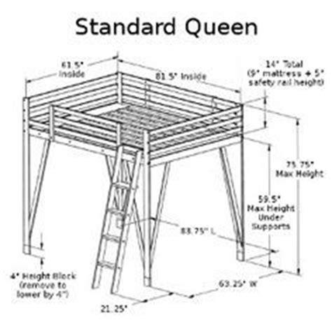 plans  build full size loft bed plans