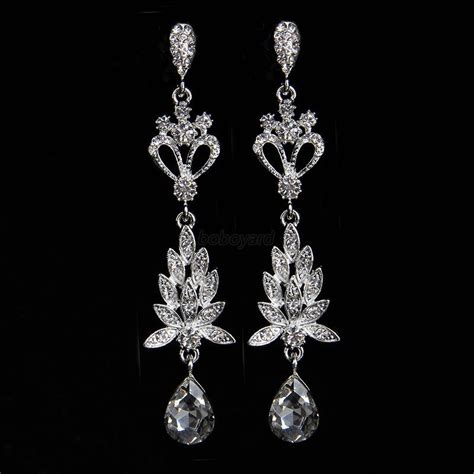 rhinestone chandelier earrings fashion rhinestone chandelier earrings