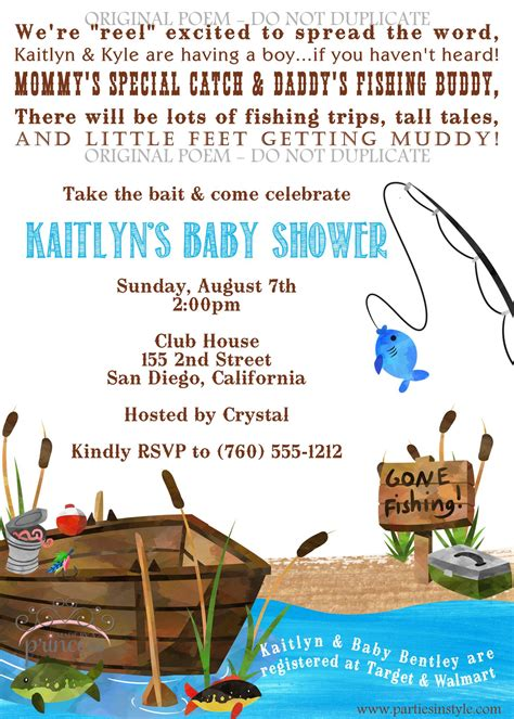 Themed Baby Shower Invitations by Fishing Themed Baby Shower Invitations Fishing Themed Baby