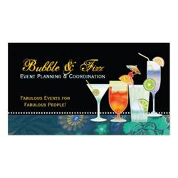 event planner business cards scrumptious cocktails event planning business card zazzle