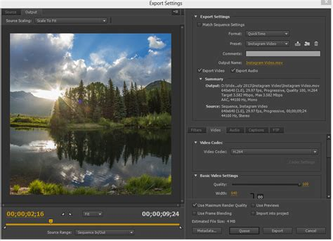 export adobe premiere instagram creating high quality instagram videos using adobe