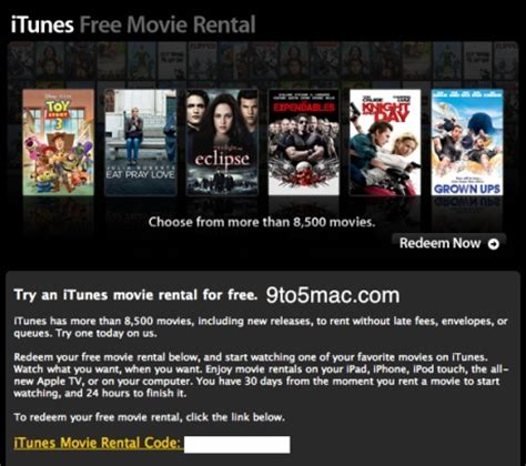 film gratis itunes apple sending out free itunes movie rental codes