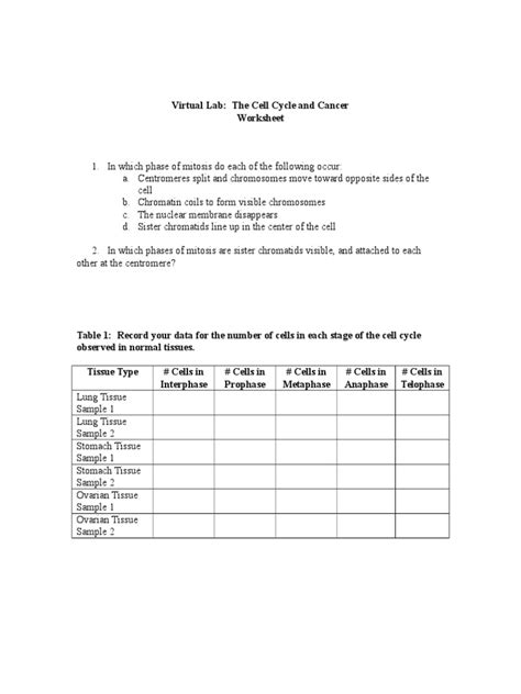 Cancer Worksheet by Cancer Worksheet Photos Getadating