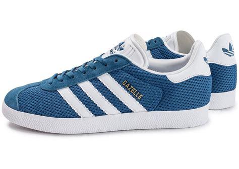 adidas gazelle mesh bleue chaussures homme chausport