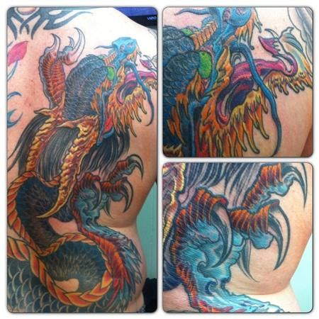 john wayne tattoo by ken karnage tattoonow tattoos in progress japanese dragon 88932