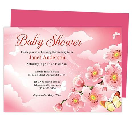 baby shower templates for mac baby shower invitations templates butterfly kisses shower