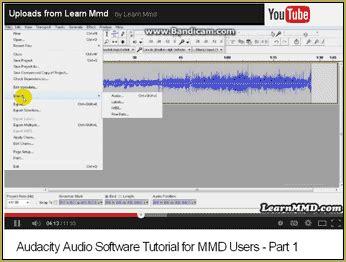 tutorial video audacity mmders audacity tutorial video is on youtube