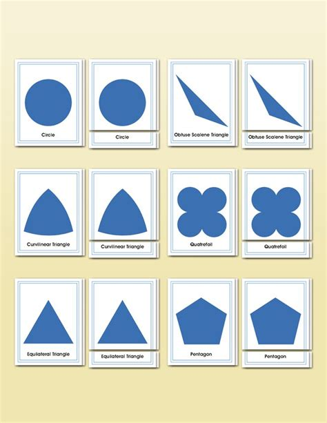 printable montessori geometric shapes 174 best montessori shapes geometrie triangles images on