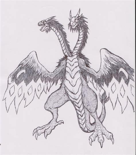 twin headed dragon by cacakrimik on deviantart
