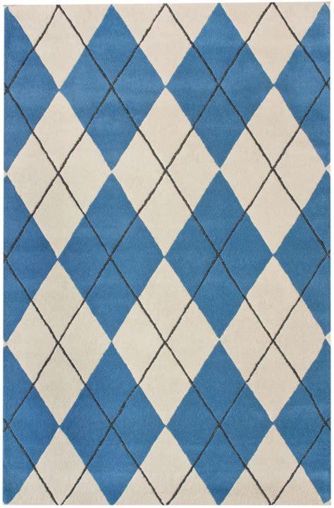 argyle rug nuloom ikat elite blue argyle area rug