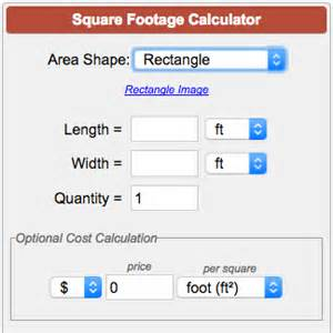 sq footage square footage calculator