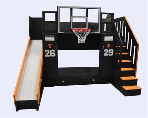basketball bed basketball bunk the ultimate locker storage bunk bed