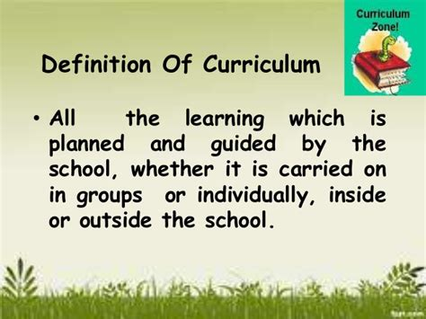 theme curriculum definition curriculum content ppt