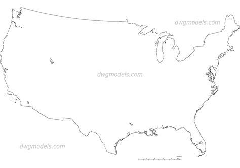 free usa map usa map dwg free cad blocks
