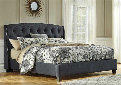 dark grey upholstered bed family furniture of america west palm beach fl kasidon dark gray king upholstered bed