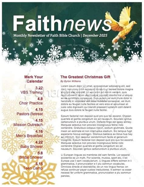 8 Best Church Newsletters Images On Pinterest Newsletter Templates Christian And Design Christian Newsletter Templates