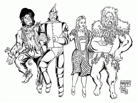 Wizard Of Oz Coloring Pages For